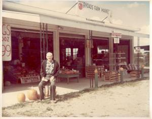 farmer outside this store in late 1950's